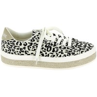 Schoenen Dames Lage sneakers No Name Malibu Twill Leopard Multicolour