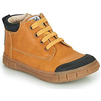 Schoenen Jongens Hoge sneakers GBB SHEN Cognac