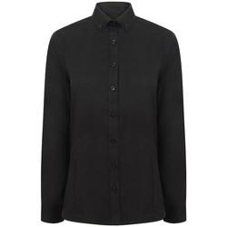 Textiel Dames Overhemden Henbury HB513 Zwart