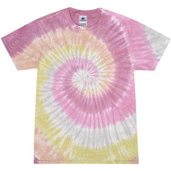 Textiel Dames T-shirts korte mouwen Colortone Rainbow Woestijnroos