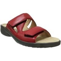 Schoenen Dames Leren slippers Mobils By Mephisto Geva Rood leer