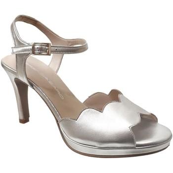 Schoenen Dames Sandalen / Open schoenen Brenda Zaro F3229 Metallic platina