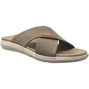 Schoenen Heren Leren slippers Mephisto Conrad Taupe nubuck
