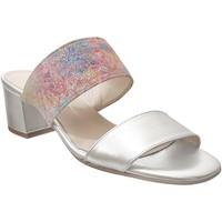 Schoenen Dames Leren slippers Brenda Zaro F3652 Leer platina