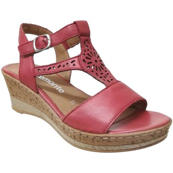 Schoenen Dames Sandalen / Open schoenen Remonte Dorndorf D4753 Rood leer