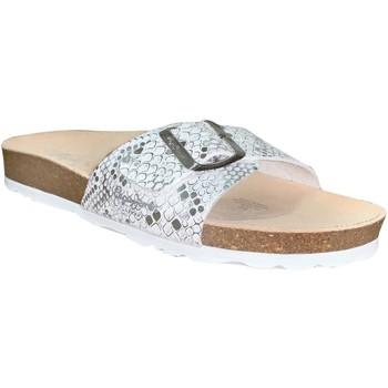 Schoenen Dames Leren slippers Pepe jeans Oban asi Wit / zilver