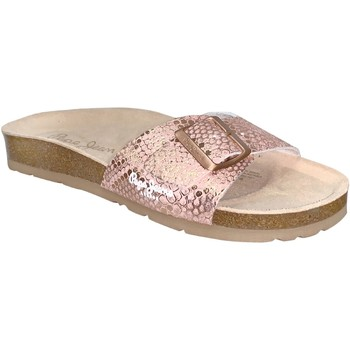 Schoenen Dames Leren slippers Pepe jeans Oban asi Lichtroze
