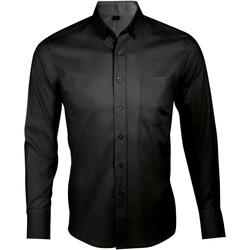 Textiel Heren Overhemden lange mouwen Sols BUSINESS MEN Negro