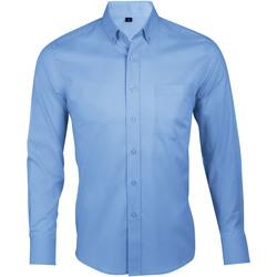 Textiel Heren Overhemden lange mouwen Sols BUSINESS MEN Azul