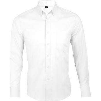 Textiel Heren Overhemden lange mouwen Sols BUSINESS MEN Blanco