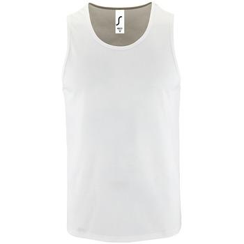 Textiel Heren Mouwloze tops Sols SPORT TT MEN Blanco
