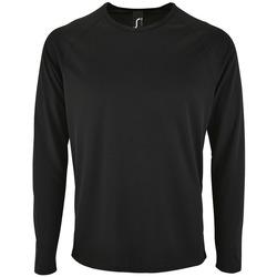 Textiel Heren T-shirts met lange mouwen Sols SPORT LSL MEN Negro