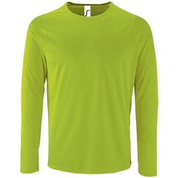 Textiel Heren T-shirts met lange mouwen Sols SPORT LSL MEN Verde