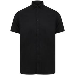 Textiel Heren Overhemden korte mouwen Henbury HB517 Zwart