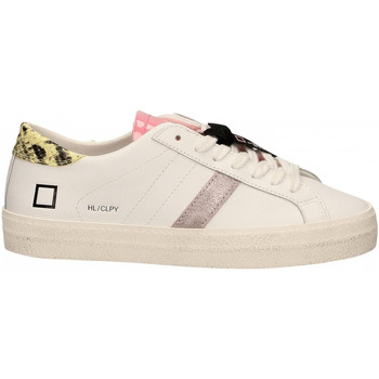 Schoenen Dames Lage sneakers Date HILL LOW CALF PYTHON bianco-giallo
