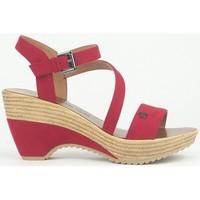 Schoenen Dames Sandalen / Open schoenen Chattawak Compensée 9-MAELLE ROUGE Rood