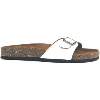 Schoenen Dames Leren slippers Chattawak Mule  9-OPALINE Blanc Vernis Wit