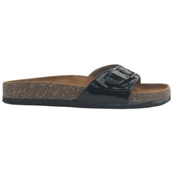 Schoenen Dames Leren slippers Chattawak Mule  9-OPALINE Noir Vernis Zwart
