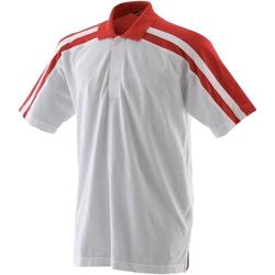 Textiel Heren Polo's korte mouwen Finden & Hales LV328 Wit/rood