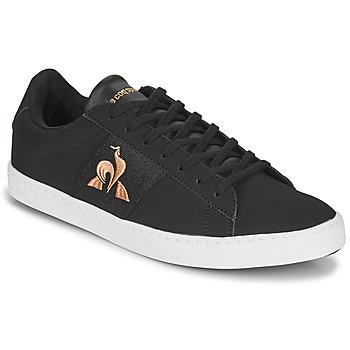 Schoenen Dames Lage sneakers Le Coq Sportif ELSA Zwart / Roze