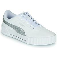 Schoenen Dames Lage sneakers Puma CARINA Wit / Zilver