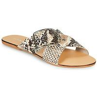 Schoenen Dames Leren slippers Jonak JASMINE Bruin / Slang