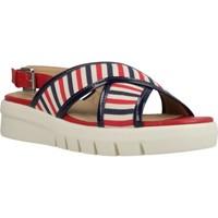 Schoenen Dames Sandalen / Open schoenen Geox D WIMBLEY SAND D Rood