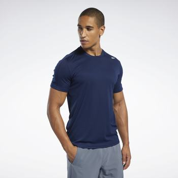 Textiel Heren T-shirts & Polo's Reebok Sport Workout Ready Polyester Tech T-shirt bleu