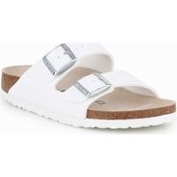 Schoenen Dames Leren slippers Birkenstock Arizona BS 0051733 white