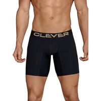 Ondergoed Heren Boxershorts Clever Lange boxershort Kumpanias Parelmoer Zwart