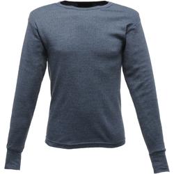 Textiel Heren T-shirts met lange mouwen Regatta RG289 Denim
