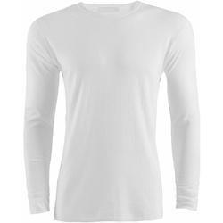 Textiel Heren T-shirts met lange mouwen Universal Textiles  Wit
