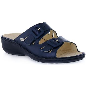 Schoenen Dames Leren slippers Grunland BLU DARA Blu