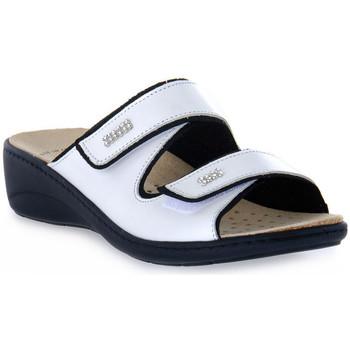 Schoenen Dames Leren slippers Grunland BIANCO ESTA Bianco