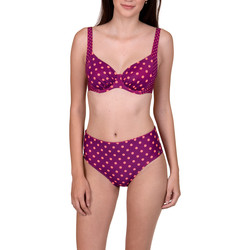 Textiel Dames Bikinibroekjes- en tops Lisca Verstelbare hoge taille kousen Linosa  Wang Lichtroze