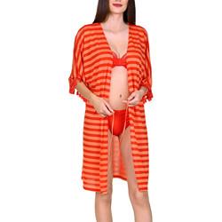 Textiel Dames Tunieken Lisca Open strandtuniek halve mouwen Itala Marina Zand