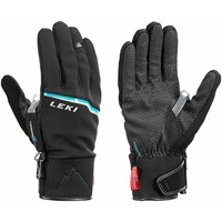 Accessoires Heren Handschoenen Leki Men's Tour Precision V Gloves Blk/Chrome/Cyan Black/Chrome/Cyan