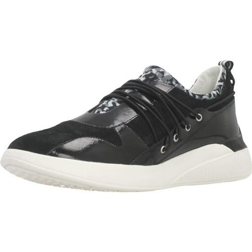 Schoenen Dames Lage sneakers Geox D THERAGON A Zwart