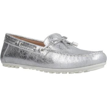 Schoenen Dames Mocassins Geox D LEELYAN A Zilver