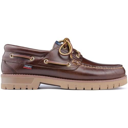 Schoenen Heren Bootschoenen CallagHan PORT Nautische schoenen BROWN