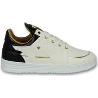Schoenen Heren Lage sneakers Cash Money Hoog Luxury White Black Wit