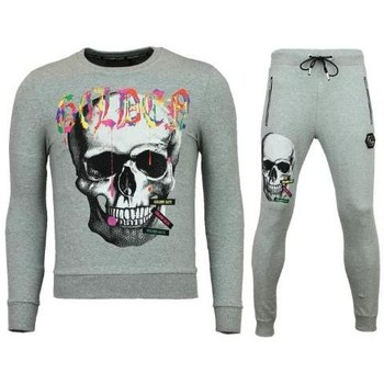 Textiel Heren Trainingspakken Enos Trainingspakken - Slim Fit Joggingpak - Color Skull - Grijs