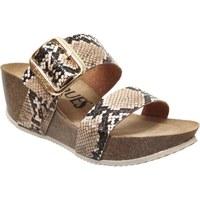 Schoenen Dames Leren slippers K. Daques CULIP Beige