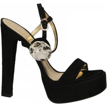 Schoenen Dames Sandalen / Open schoenen Ororo CAMOSCIO+ACCESSORIO nero