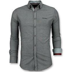 Textiel Heren Overhemden lange mouwen Tony Backer Business Overhemden - Streepjes  - Grijs