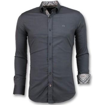 Textiel Heren Overhemden lange mouwen Tony Backer Bijzondere Overhemden -  - Grijs