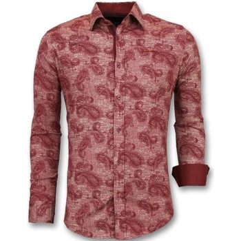 Textiel Heren Overhemden lange mouwen Tony Backer Bloemenprint - Slim Fit  - Rood