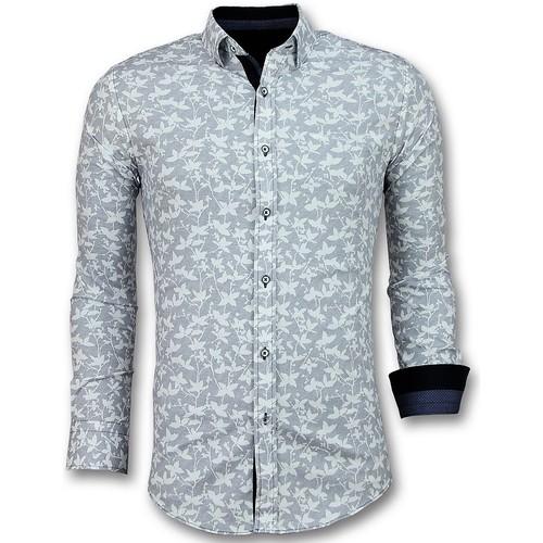 Textiel Heren Overhemden lange mouwen Tony Backer Italiaanse  -met Bloemmotief - Wit