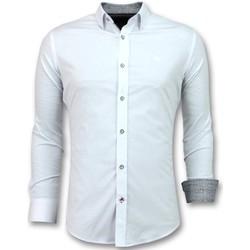 Textiel Heren Overhemden lange mouwen Tony Backer Italiaanse  - Slim Fit Overhemden - Wit