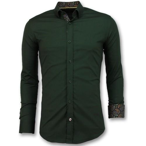 Textiel Heren Overhemden lange mouwen Tony Backer Business Overhemden -  - Groen